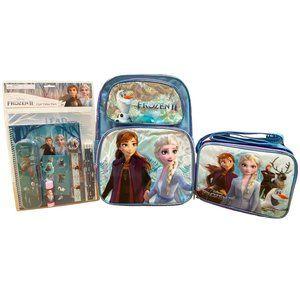 Disney Frozen II Backpack, Lunch Bag & Stationery